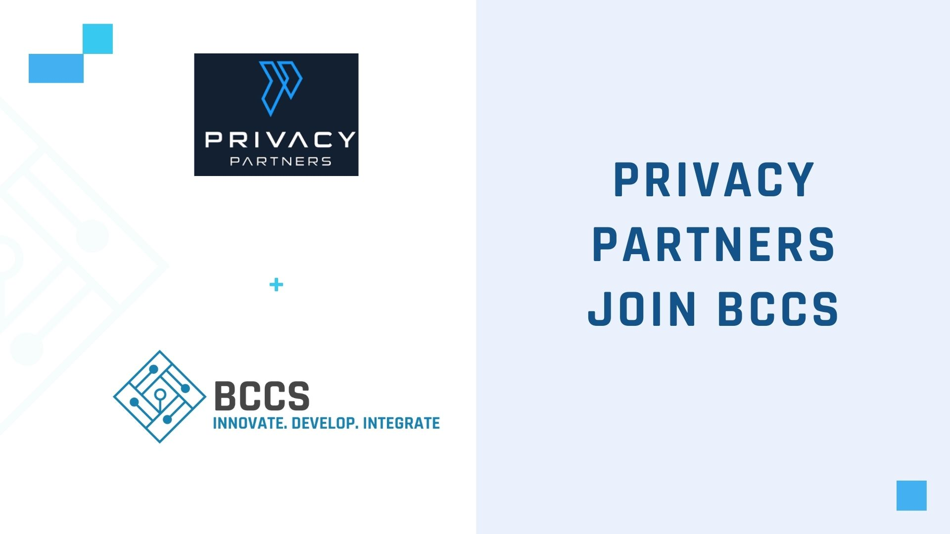 Privacy Partners join BCCS Cluster